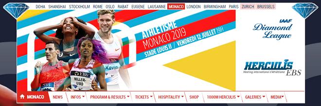 IAAFダイヤモンドリーグ2019モナコ