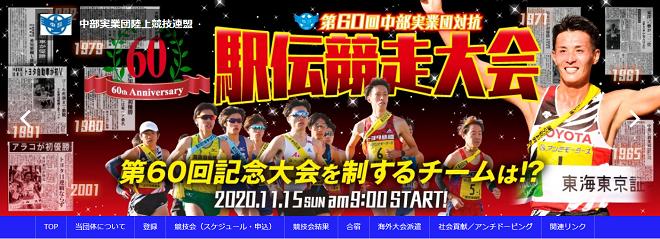 中部実業団対抗駅伝2020