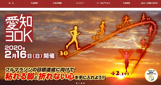 ランナーズ愛知30K2020画像