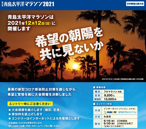 青島太平洋マラソン2021