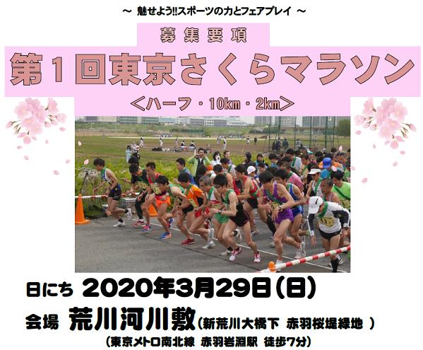 東京さくらマラソン2020